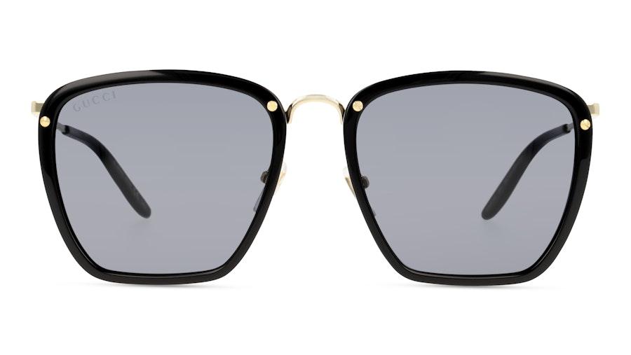 Gucci GG0673S 001 Grey / Preto e Dourado