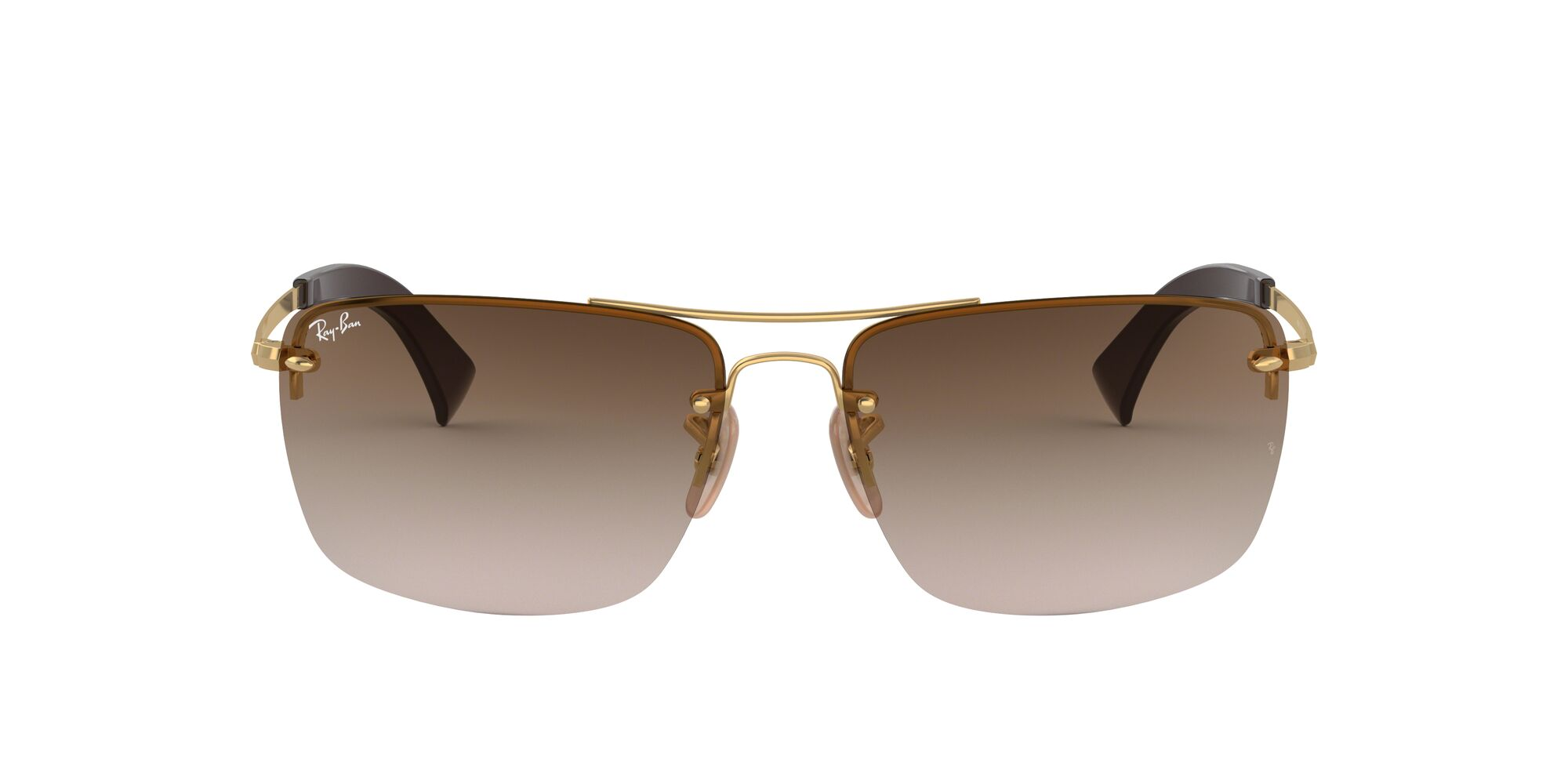 Front Ray-Ban Ray-Ban 0RB3607 001/13 61/15 Goud/Bruin