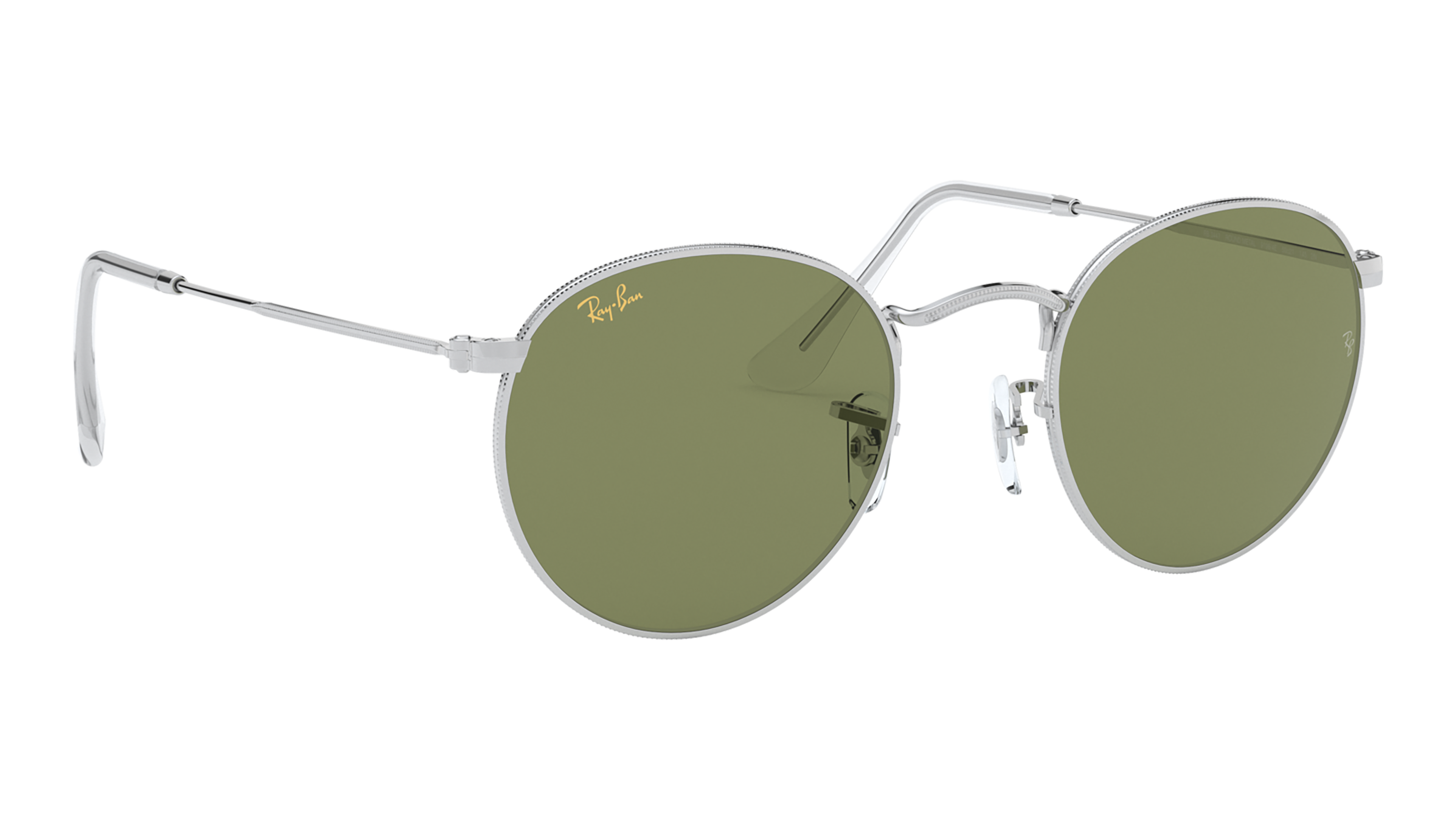 Angle_Right02 Ray-Ban Ray-Ban 0RB3447 91984E 53/21 Zilver/Groen