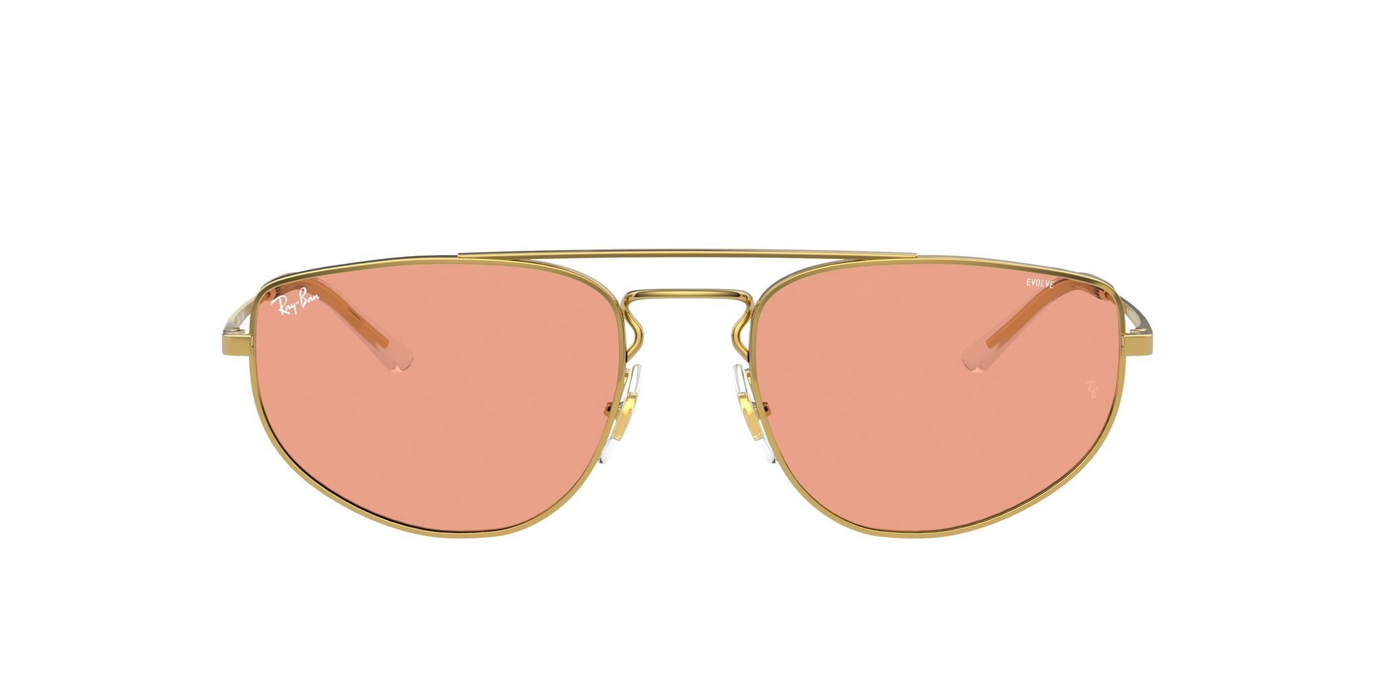 Front Ray-Ban Ray-Ban 0RB3668 001/Q6 55/19 Goud/Rood