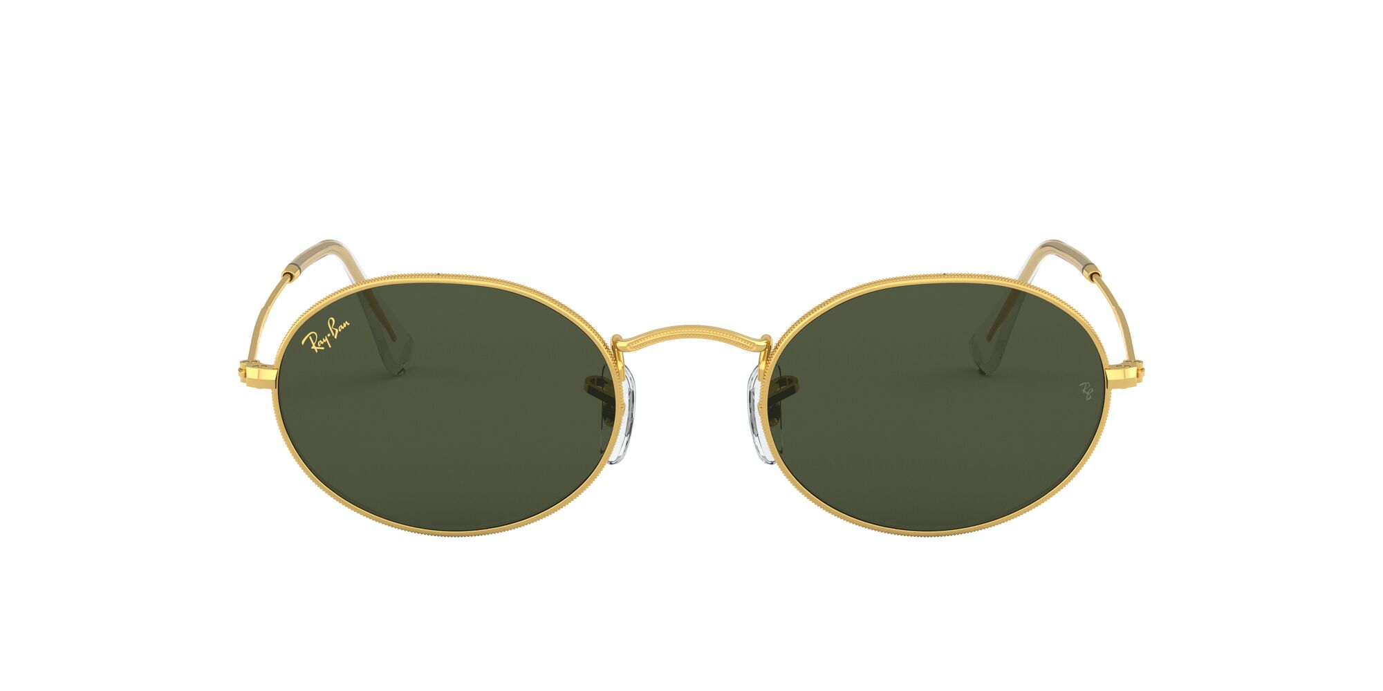 Front Ray-Ban Ray-Ban 0RB3547 919631 53/21 Goud/Groen