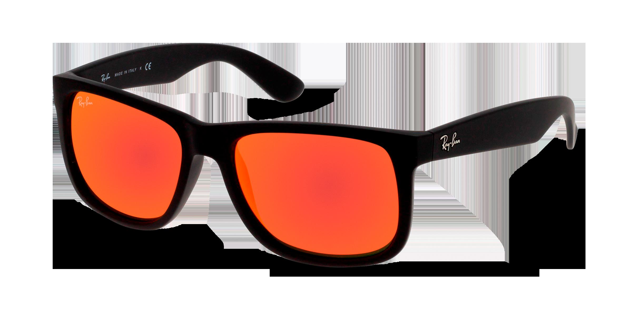 Angle_Left01 Ray-Ban Ray-Ban 0RB4165 622/6Q 54/16 Zwart/Oranje