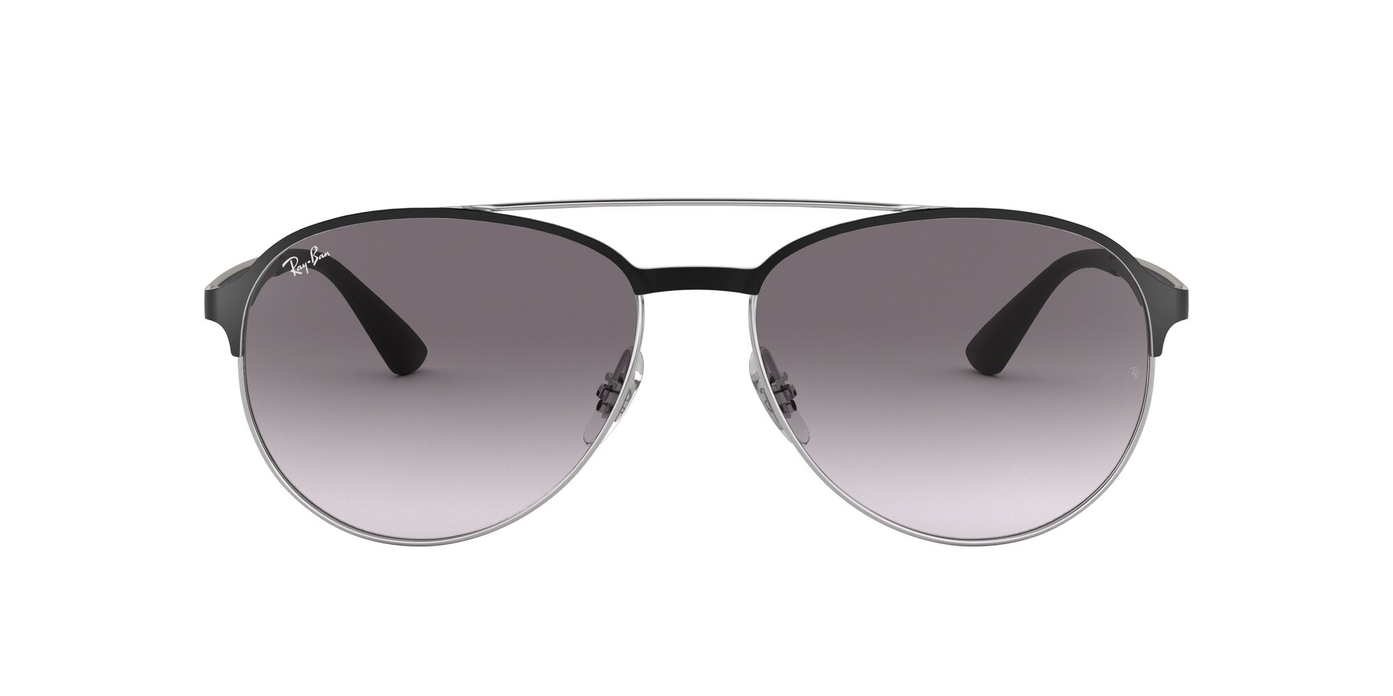 Front Ray-Ban Ray-Ban 0RB3606 90918G 59/16 Zilver/Grijs