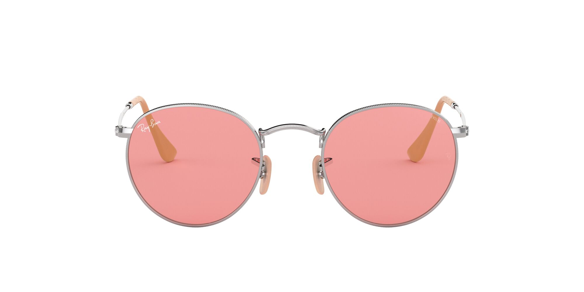 Front Ray-Ban Ray-Ban 0RB3447 9065V7 53/21 Zilver/Roze