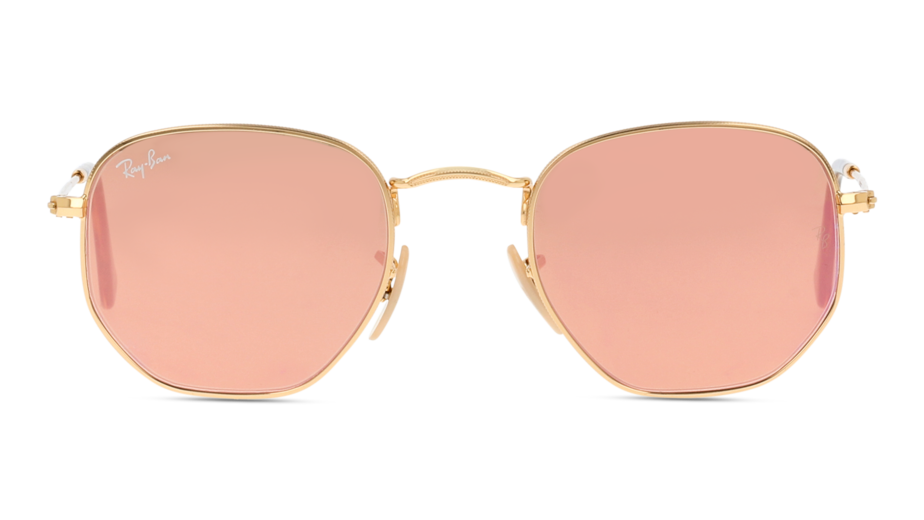 Front Ray-Ban Ray-Ban 0RB3548N 001/ 48/21 Goud/Roze