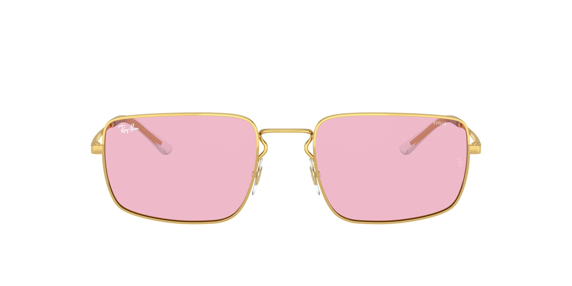 Front Ray-Ban Ray-Ban 0RB3669 001/Q3 55/20 Goud/Roze
