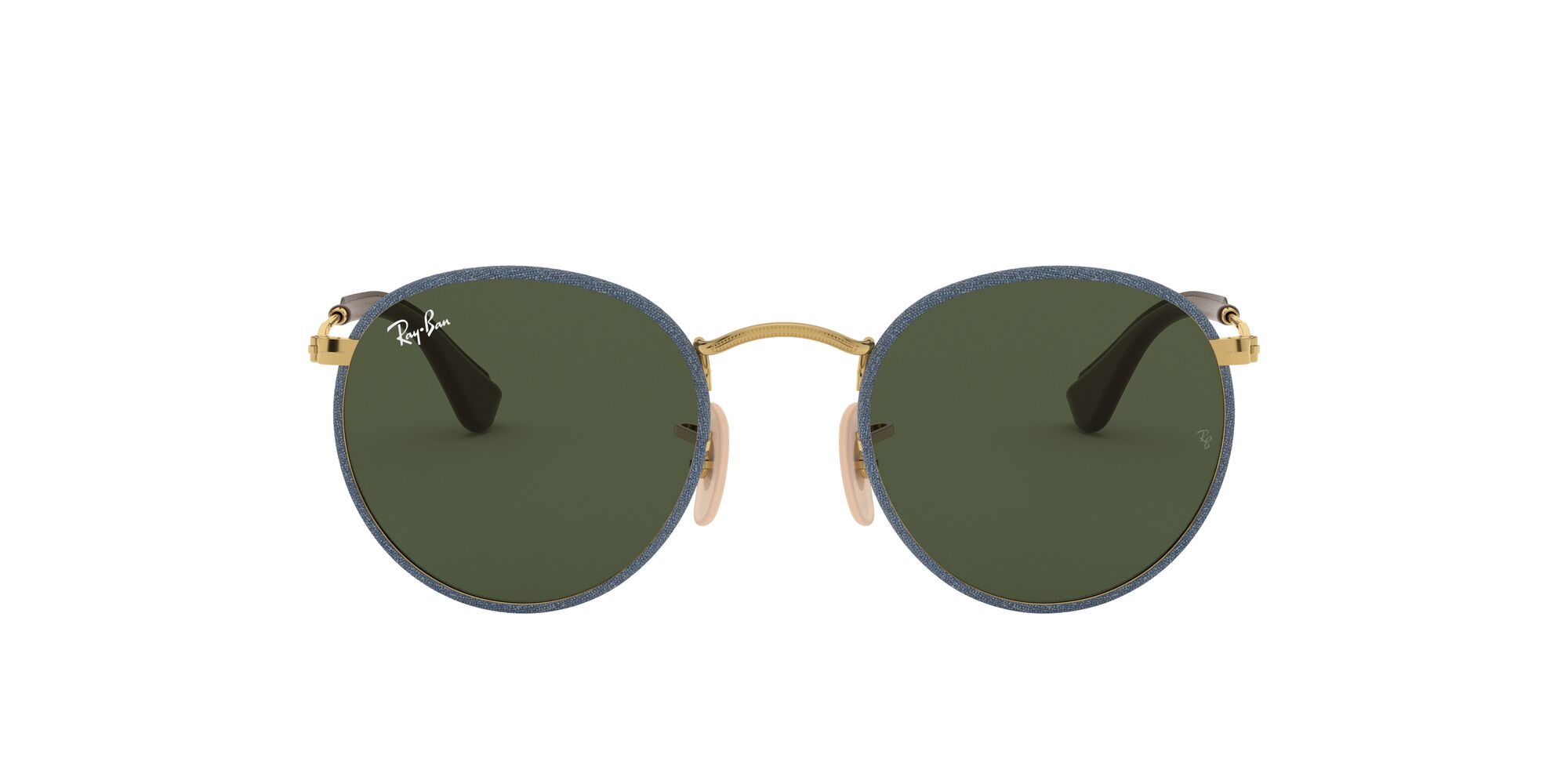 Front Ray-Ban Ray-Ban 0RB3475Q 919431 50/21 Goud, Blauw/Groen