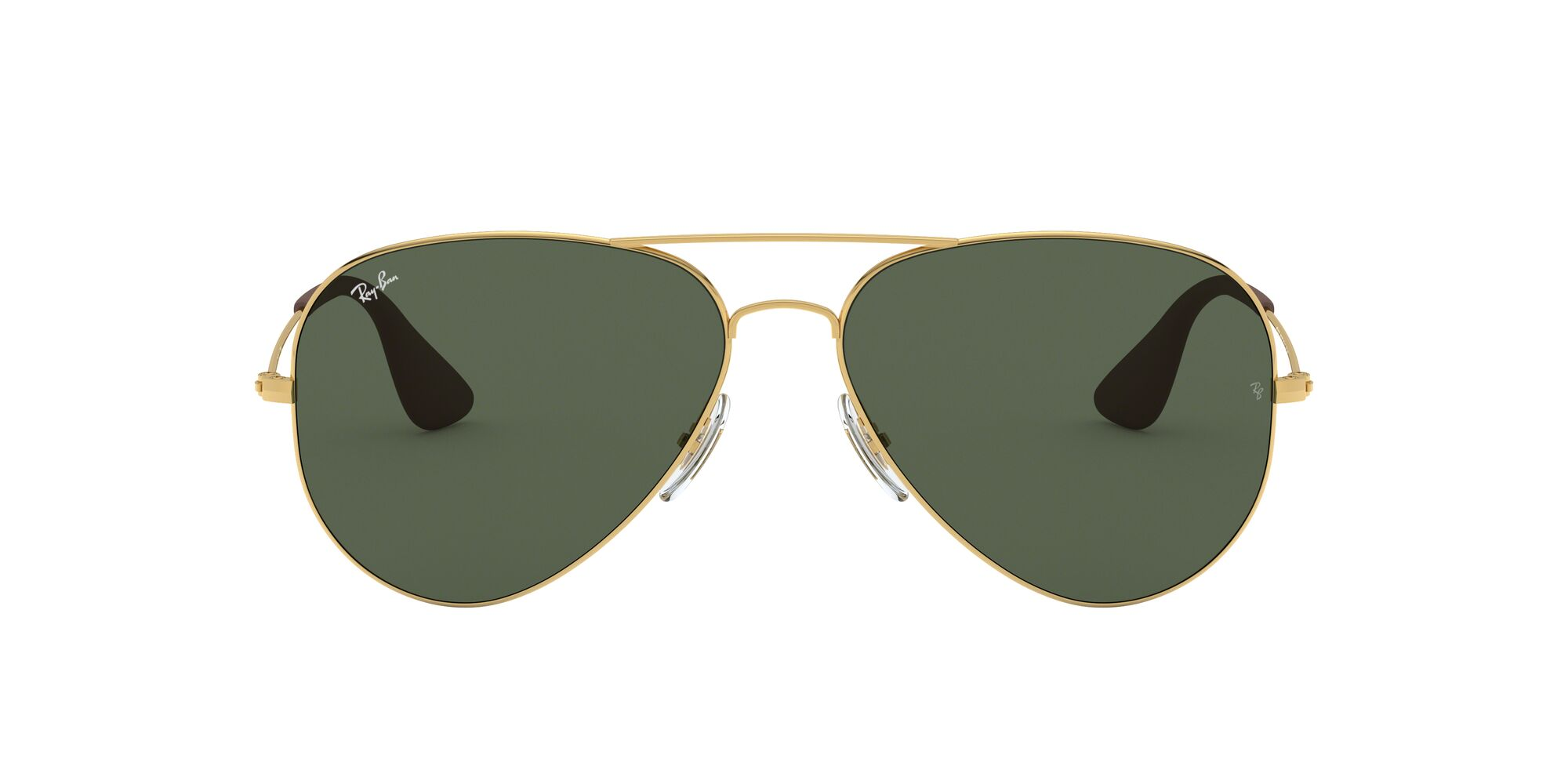 Front Ray-Ban Ray-Ban 0RB3558 001/71 58/14 Goud/Groen