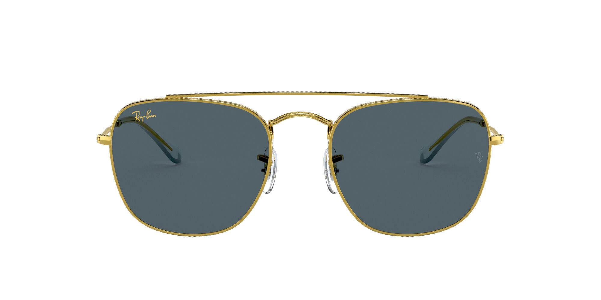 Front Ray-Ban Ray-Ban 0RB3557 9196R5 51/20 Goud/Blauw