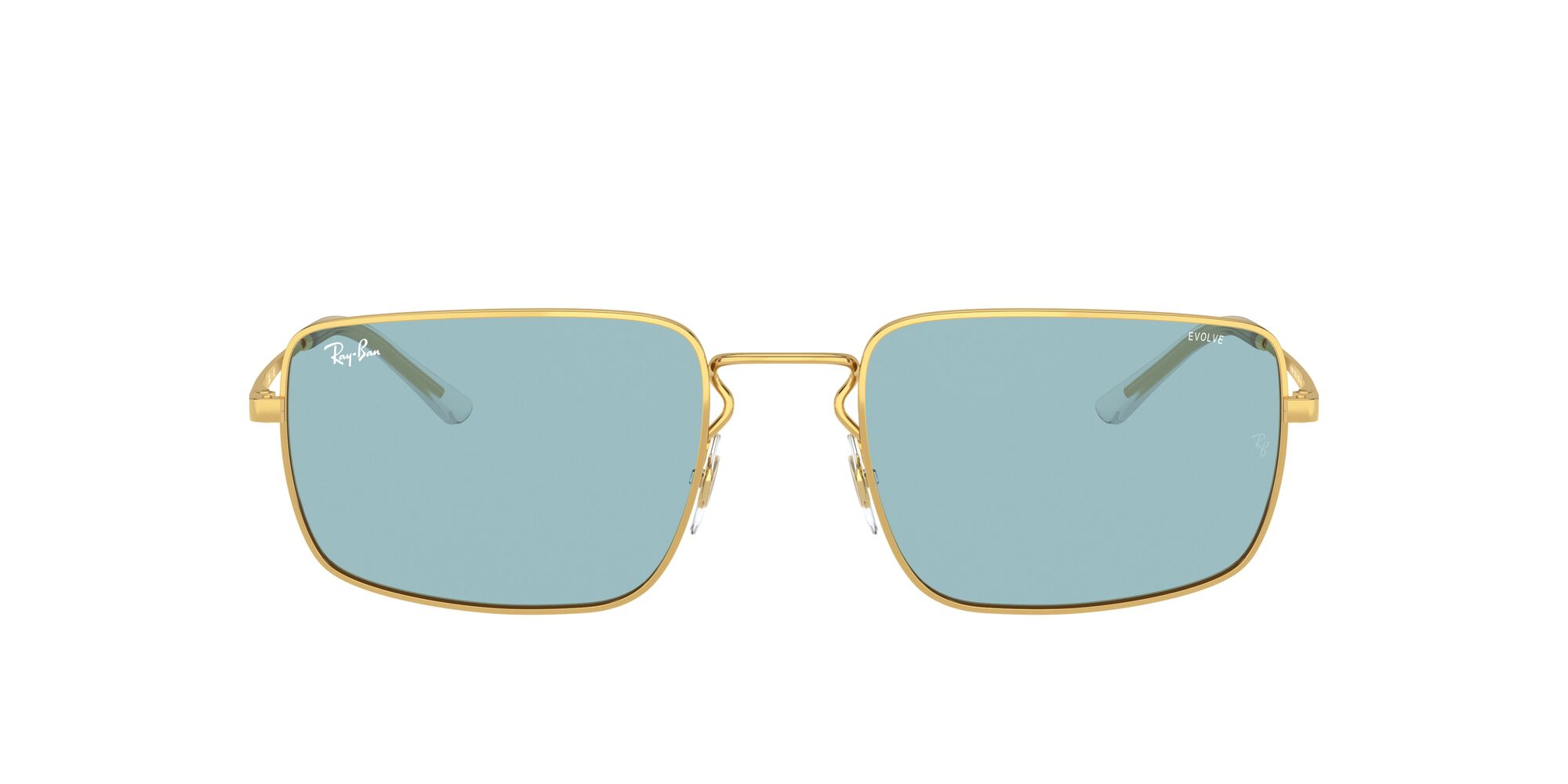 Front Ray-Ban Ray-Ban 0RB3669 001/Q2 55/20 Goud/Blauw