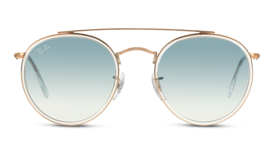 Front Ray-Ban Ray-Ban 0RB3647N 90683F 51/22 Zilver, Transparant/Blauw