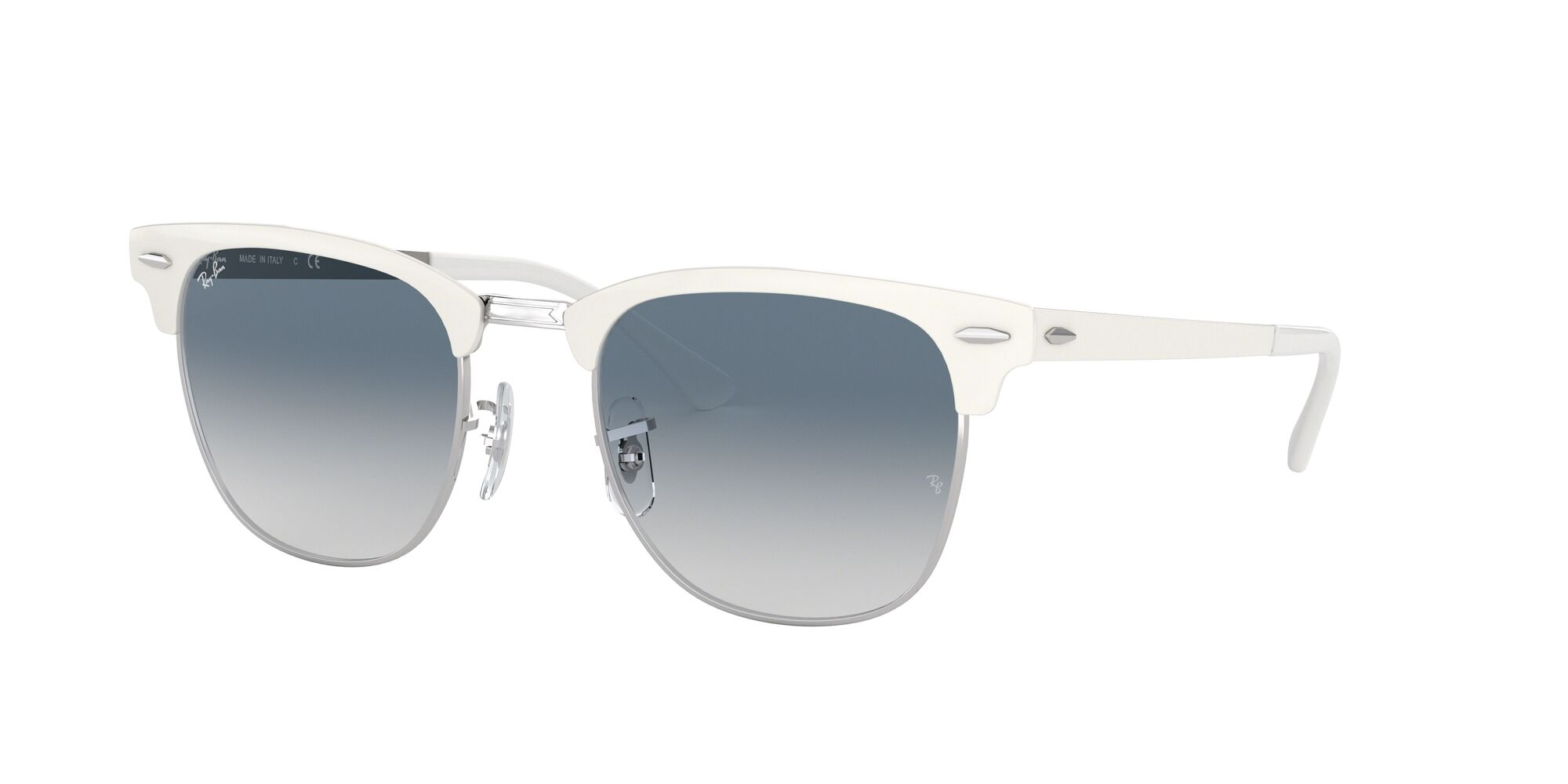 Angle_Left01 Ray-Ban Ray-Ban 0RB3716 90883F 51/21 Zilver/Blauw