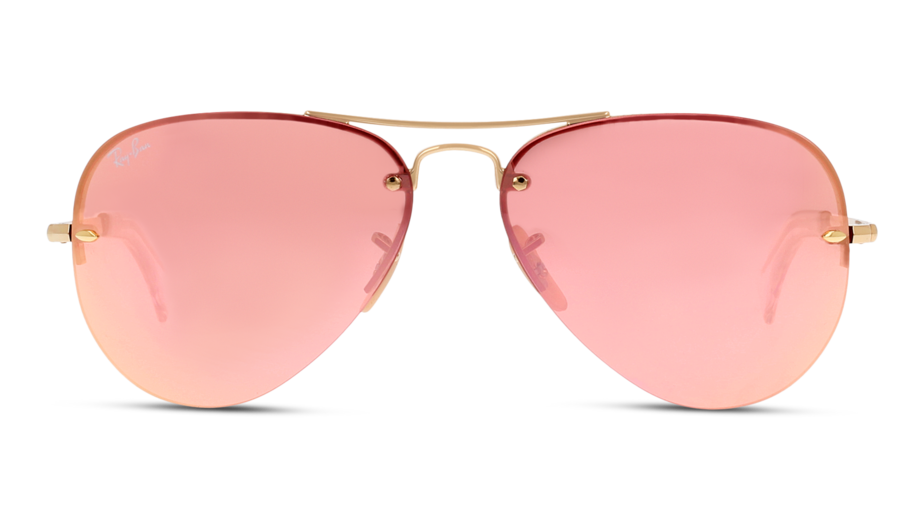 Front Ray-Ban Ray-Ban 0RB3449 001/E4 59/14 Goud/Roze