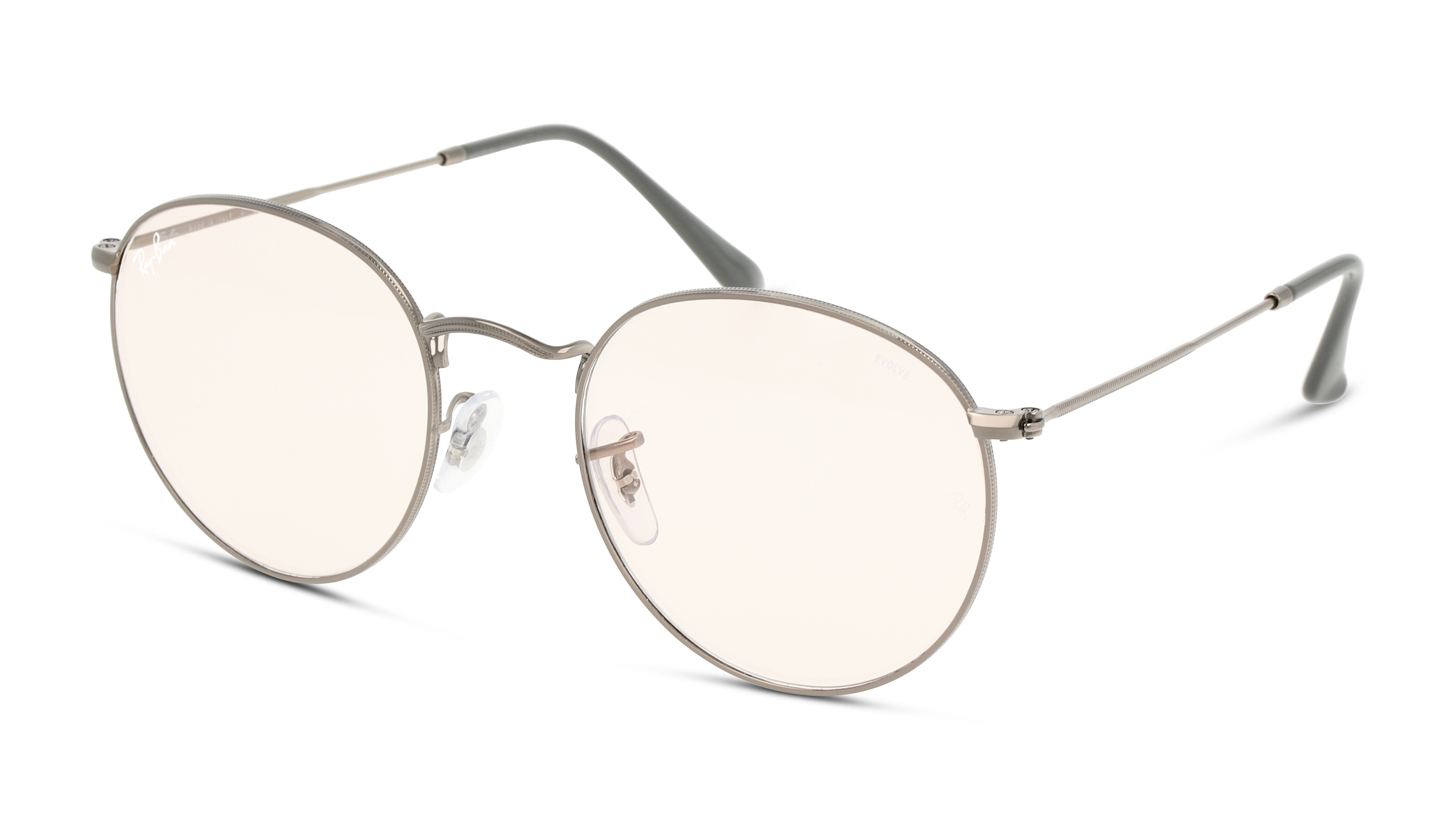 Angle_Left01 Ray-Ban Ray-Ban 0RB3447 004/T5 53/21 Grijs/Roze