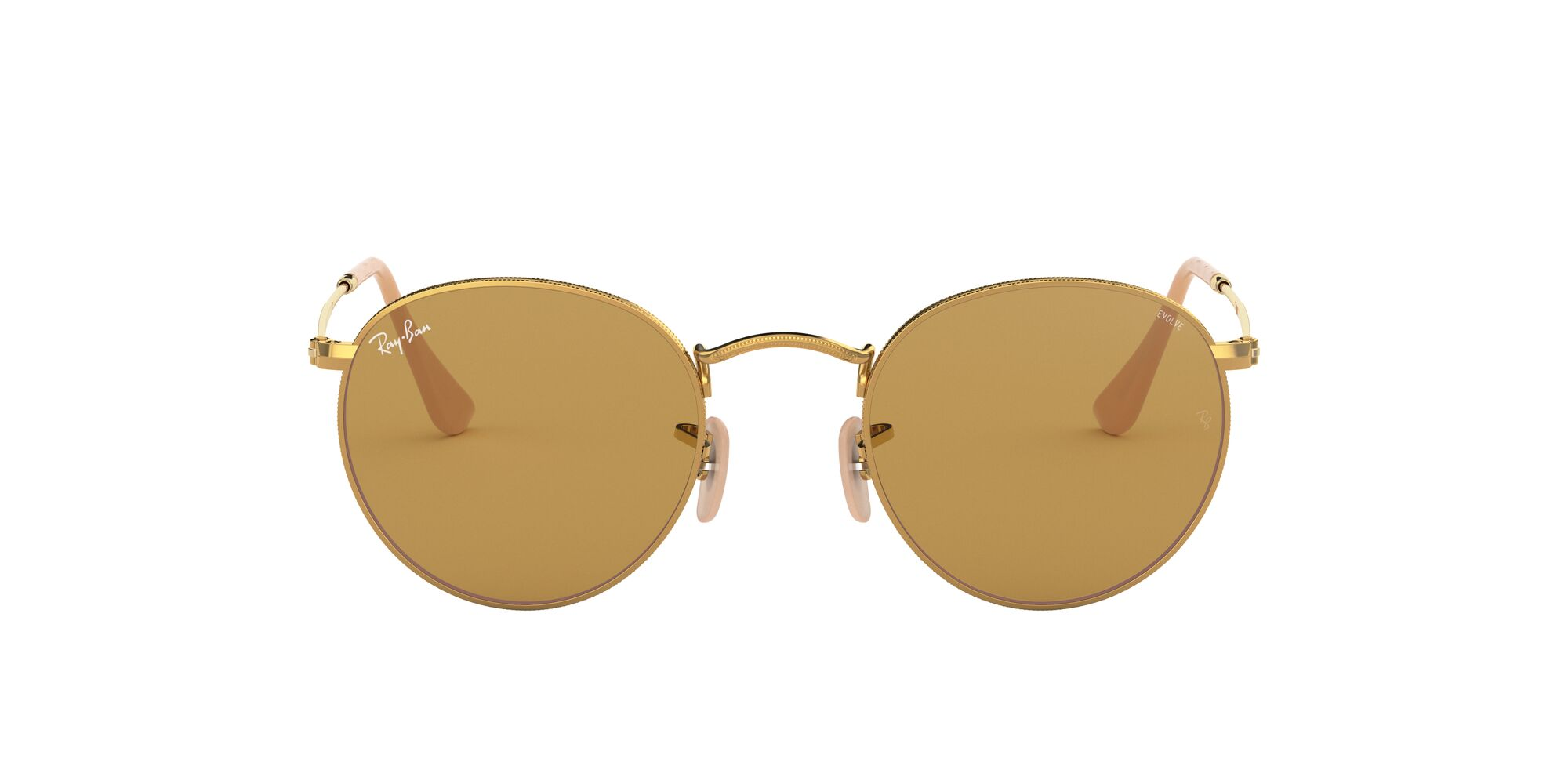 Front Ray-Ban Ray-Ban 0RB3447 90644I 50/21 Goud/Bruin