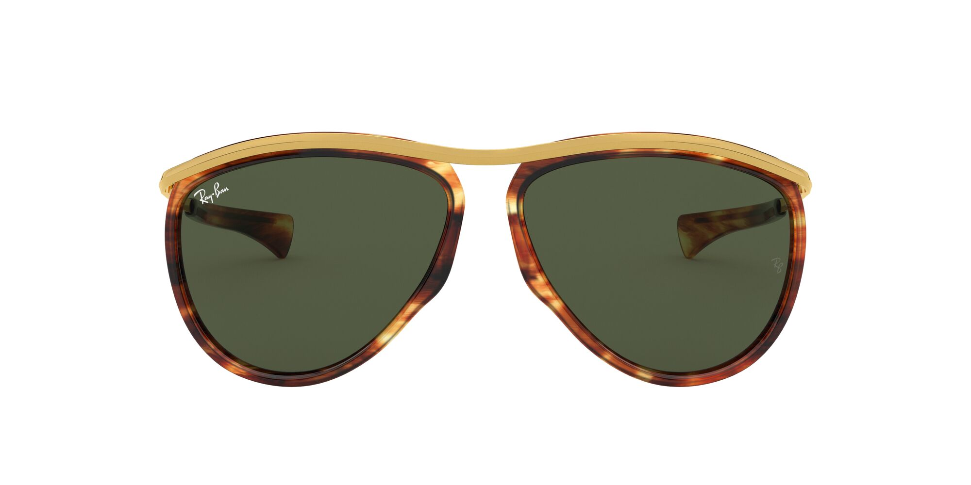 Front Ray-Ban Ray-Ban 0RB2219 954/31 59/13 Bruin, Goud/Groen