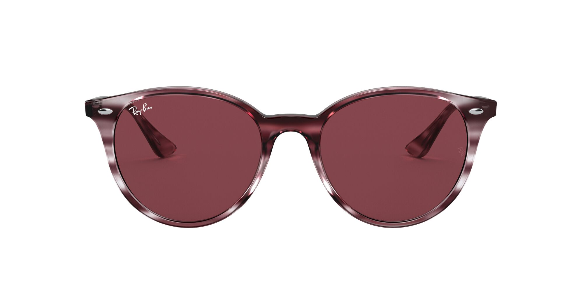 Front Ray-Ban Ray-Ban 0RB4305 643175 53/19 Rood, Bruin/Paars