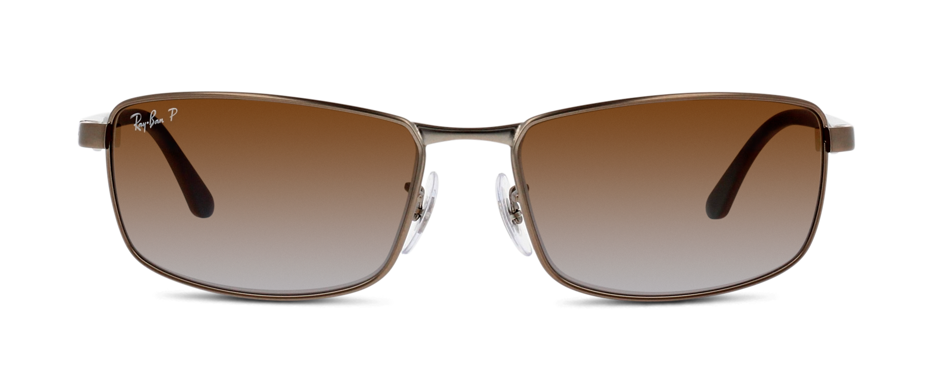 Front Ray-Ban Ray-Ban 3498 029/T5 61/17 Zilver/Bruin