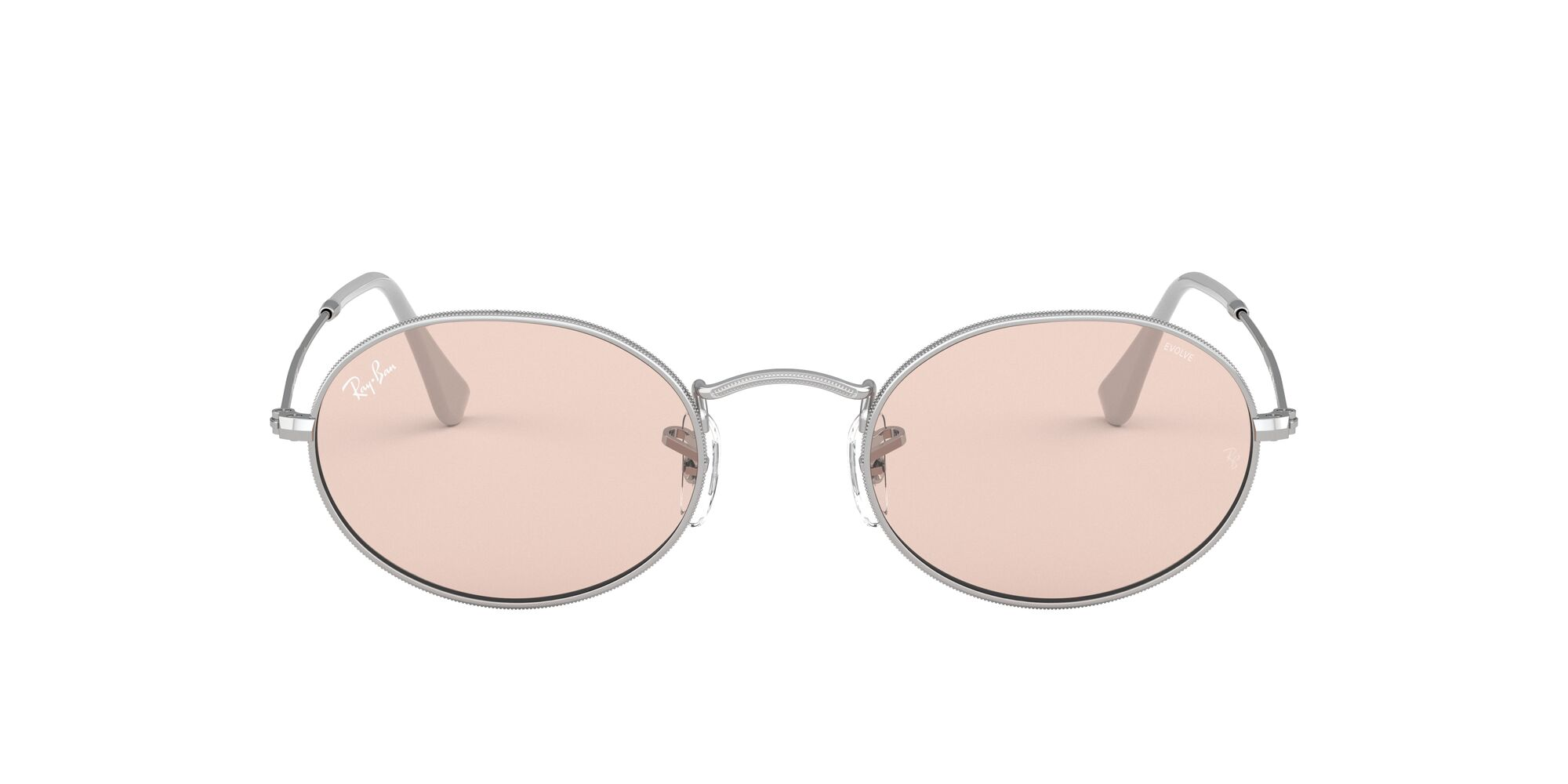 Front Ray-Ban Ray-Ban 0RB3547 003/T5 53/21 Zilver/Roze