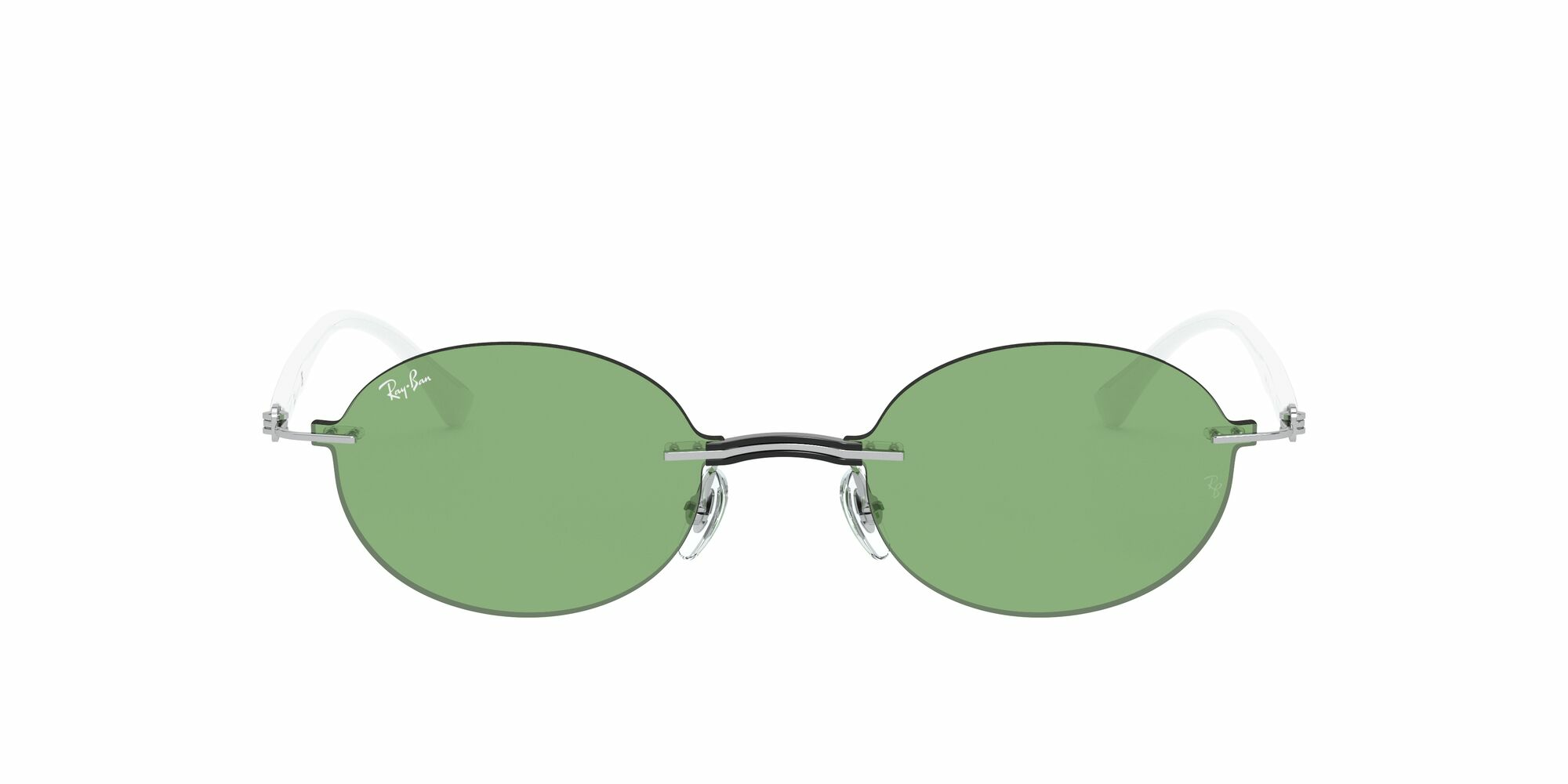 Front Ray-Ban Ray-Ban 0RB8060 003/2 54/15 Transparant, Zilver/Groen
