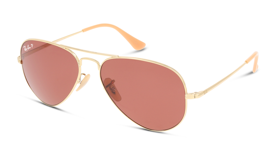 Angle_Left01 Ray-Ban Ray-Ban 0RB3689 9064AF 55/14 Goud/Roze