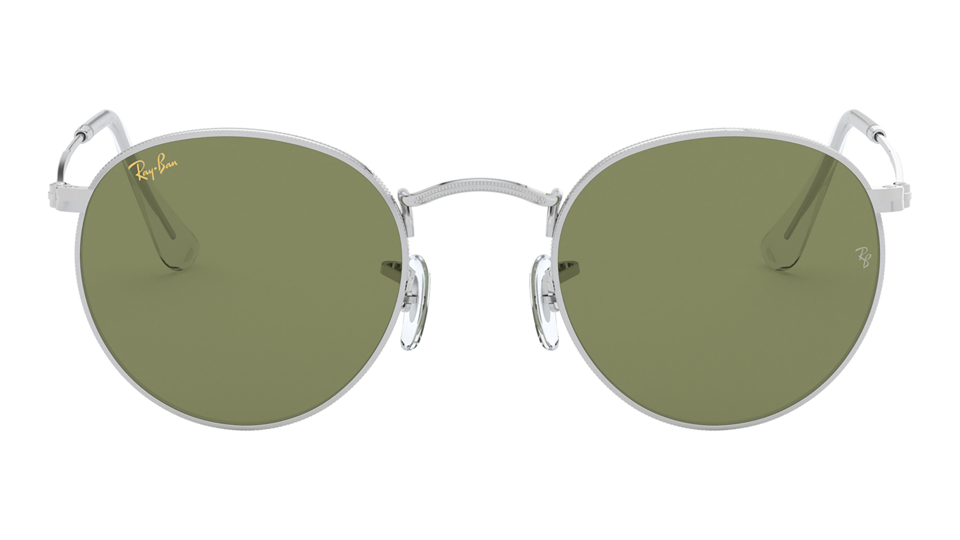Front Ray-Ban Ray-Ban 0RB3447 91984E 53/21 Zilver/Groen