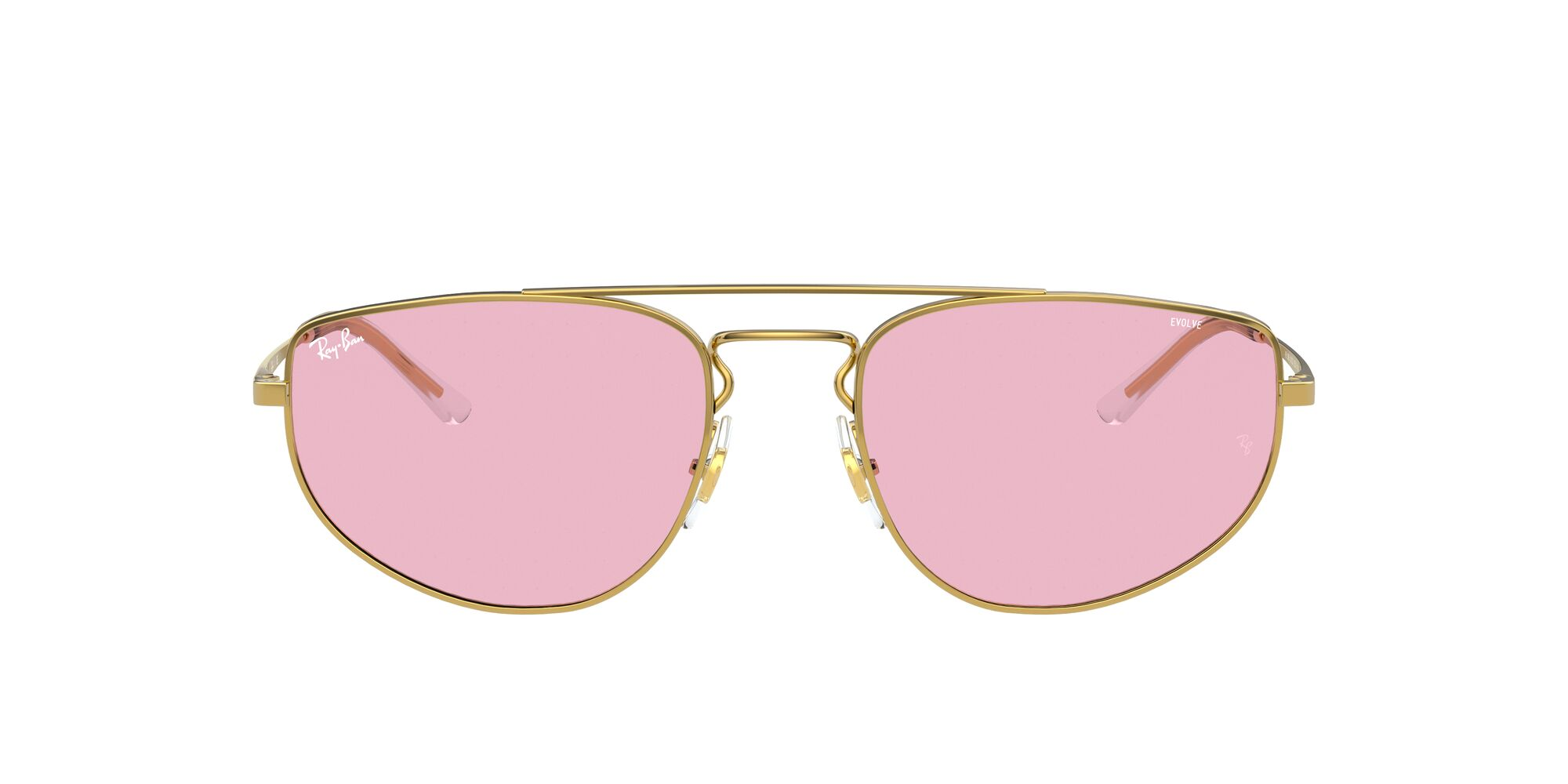 Front Ray-Ban Ray-Ban 0RB3668 001/Q3 55/19 Goud/Roze