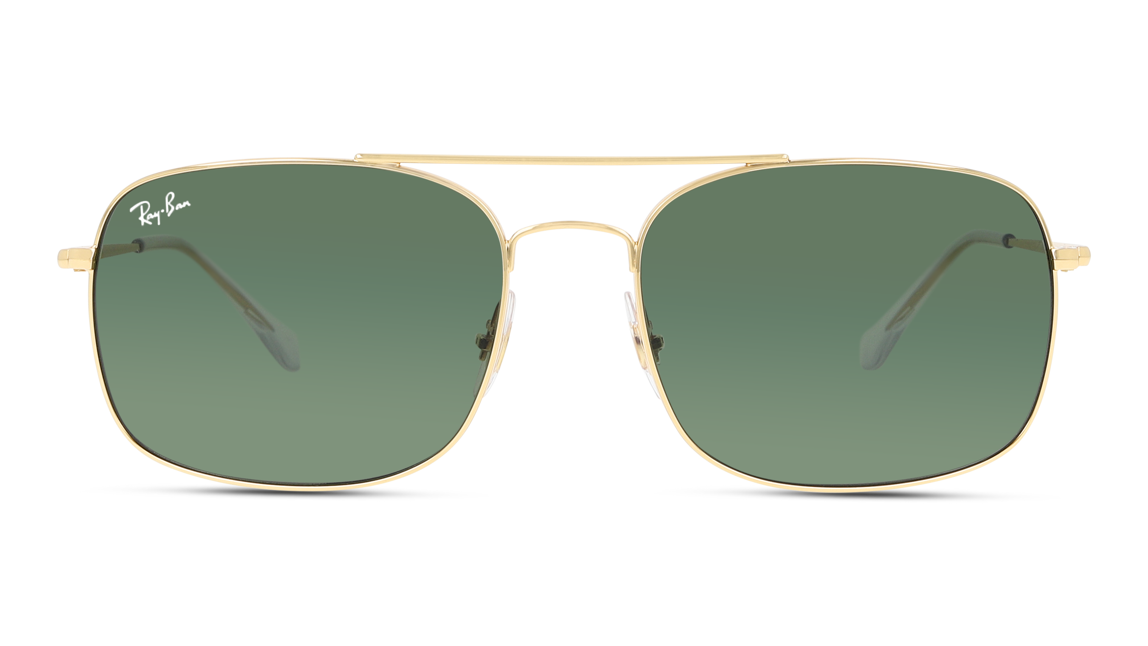 Front Ray-Ban Ray-Ban 0RB3611 001/31 60/18 Goud/Groen