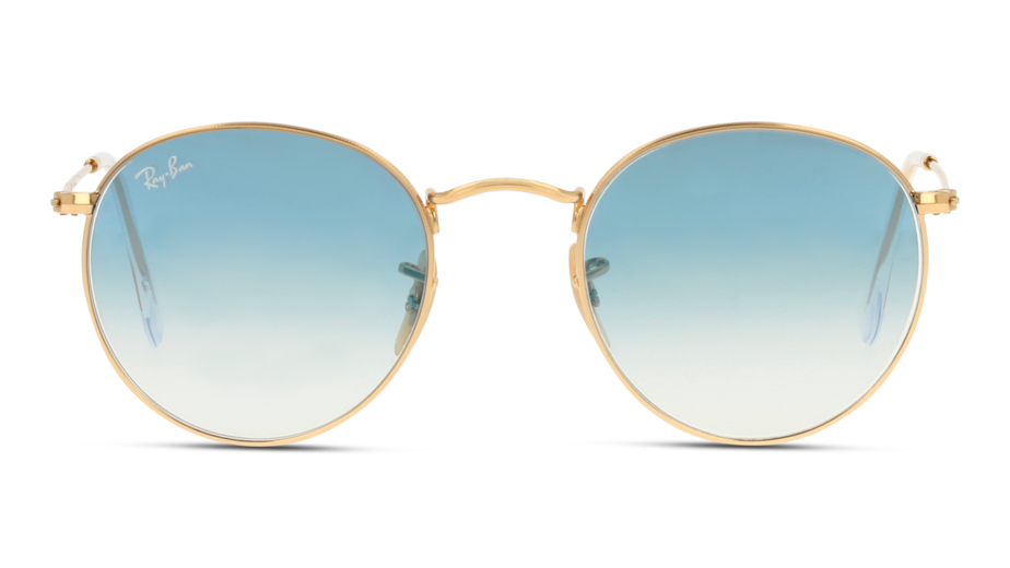 Front Ray-Ban Ray-Ban 0RB3447N 001/3F 53/21 Goud/Blauw
