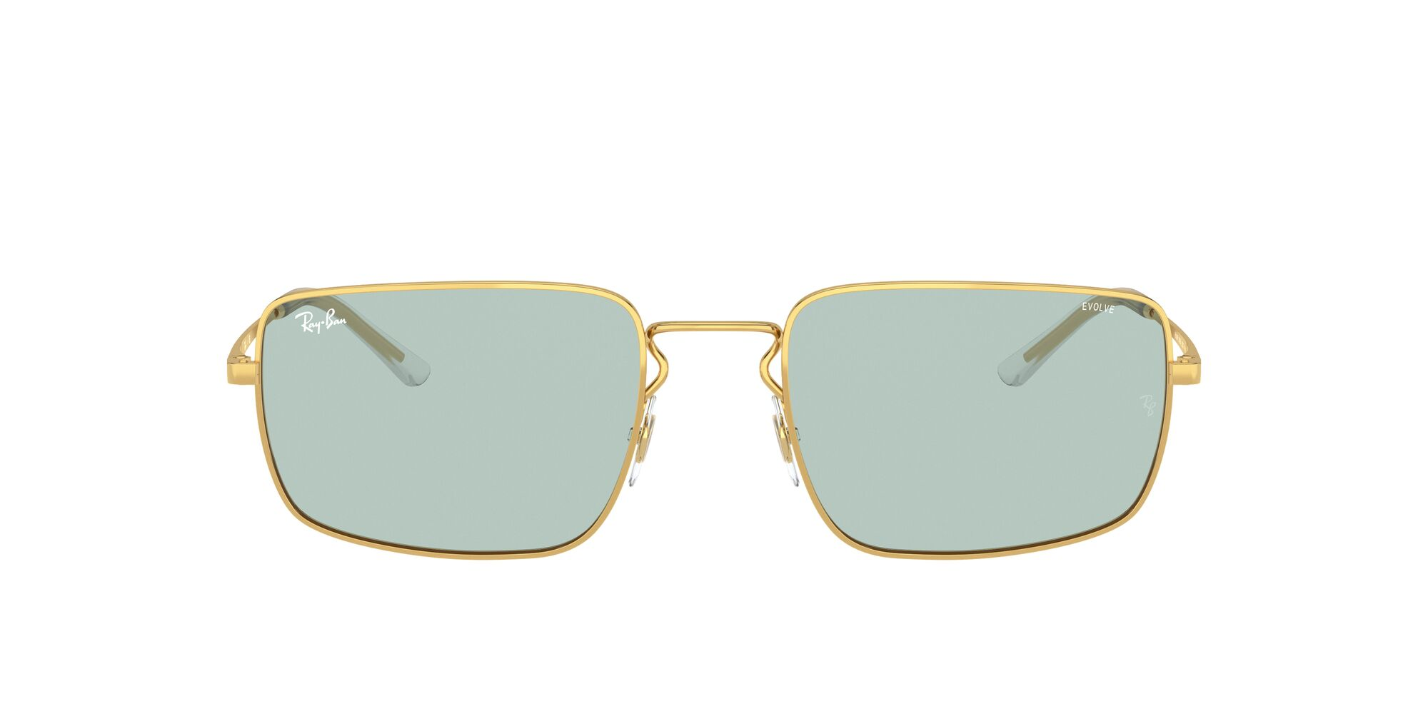 Front Ray-Ban Ray-Ban 0RB3669 001/Q5 55/20 Goud/Groen