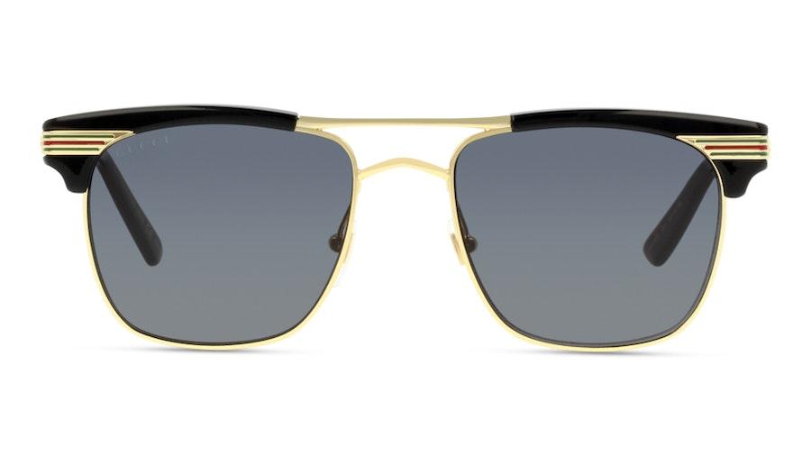 Gucci GG0287S 1 Cinza / Dourado e Preto