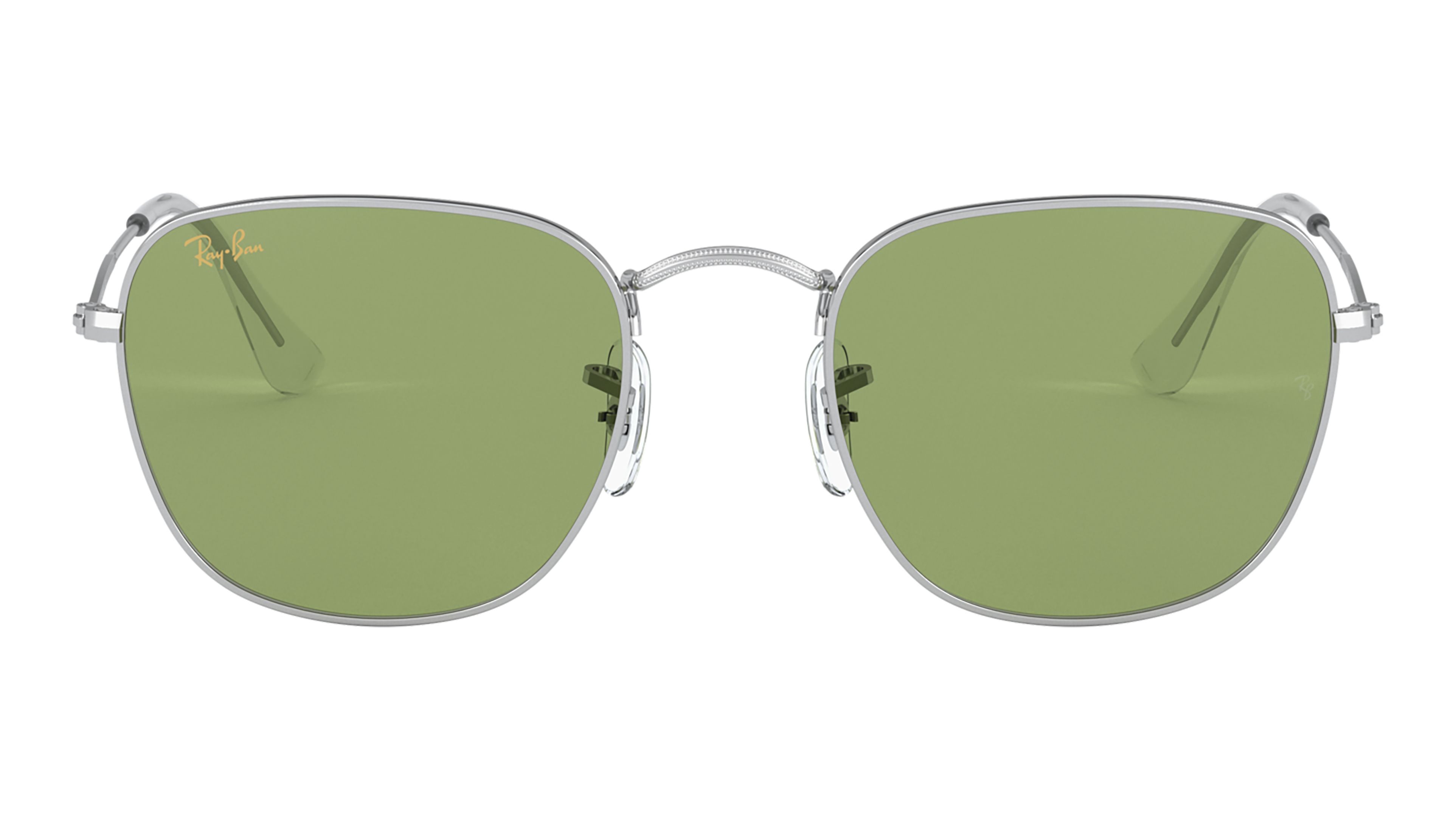 Front Ray-Ban Ray-Ban 0RB3857 91984E 51/20 Zilver/Groen