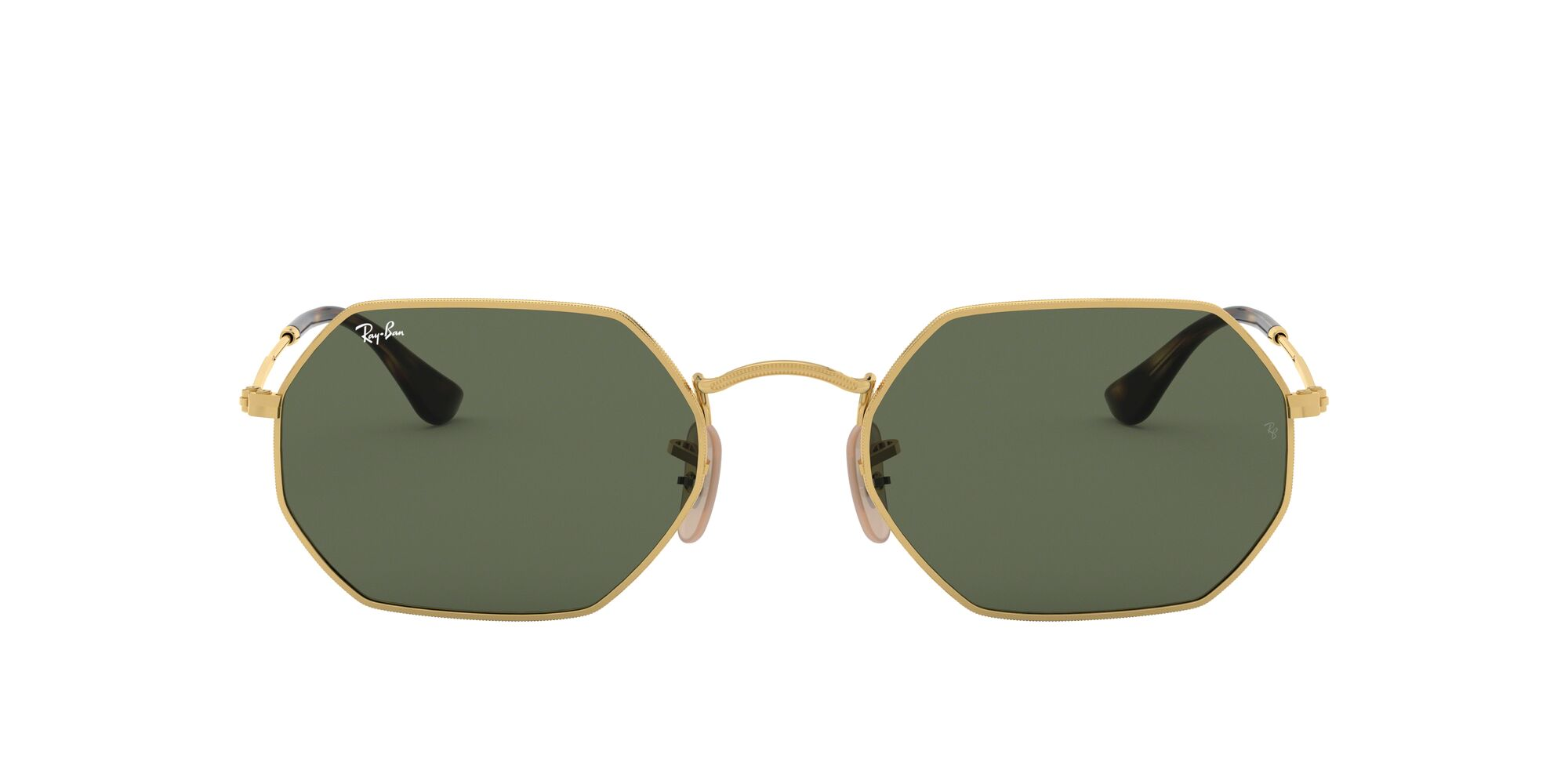 Front Ray-Ban Ray-Ban 0RB3556N 001 53/21 Goud/Groen