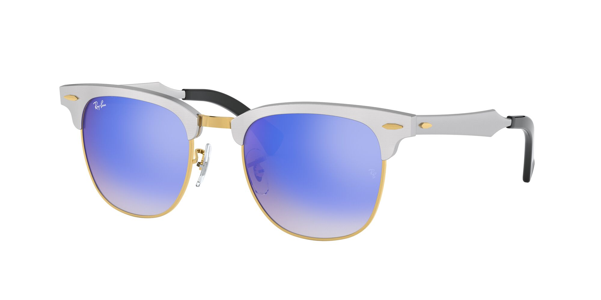Angle_Left01 Ray-Ban Ray-Ban 0RB3507 137/7Q 51/21 Zilver/Blauw