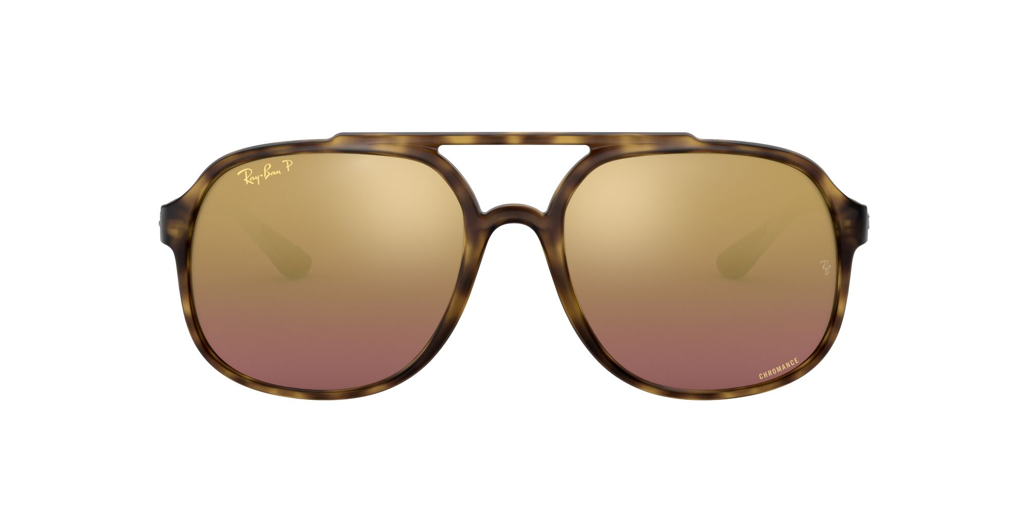Front Ray-Ban Ray-Ban 0RB4312CH 894/6B 57/18 Bruin/Paars