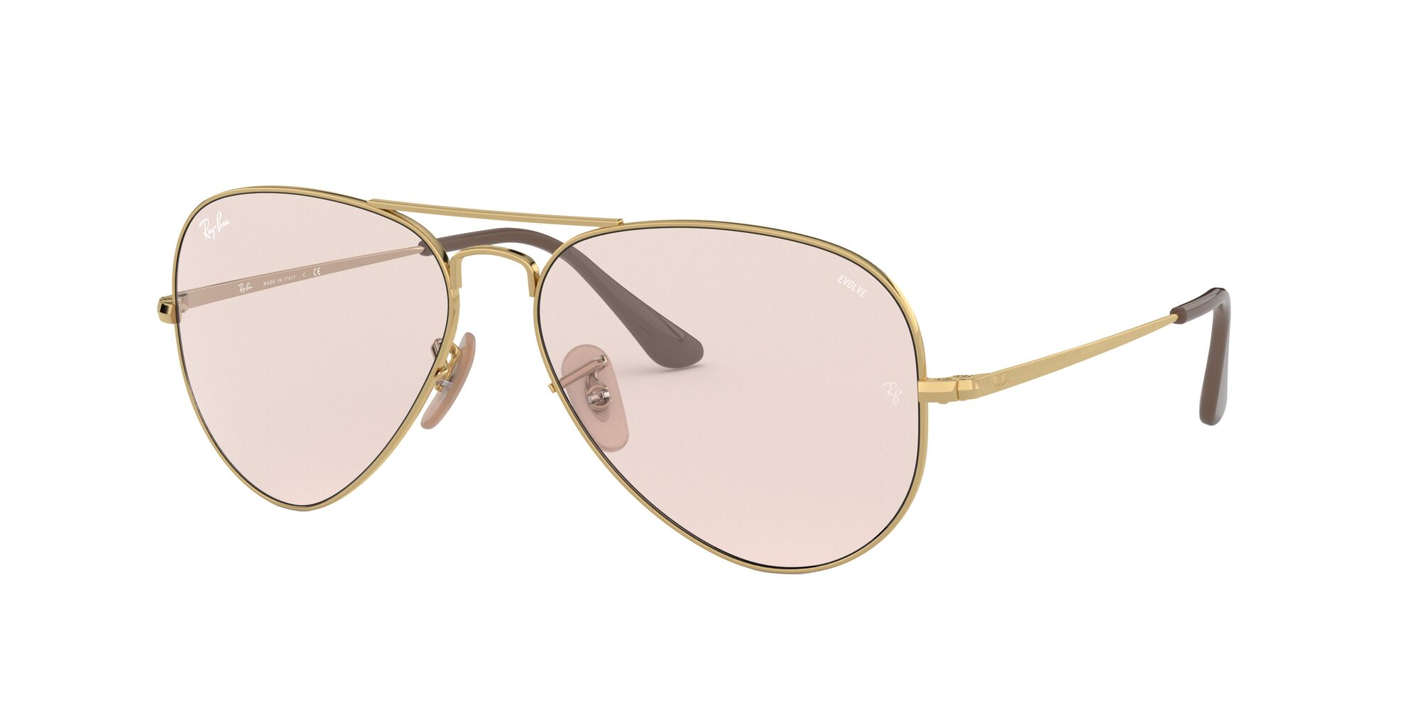 Angle_Left01 Ray-Ban Ray-Ban 0RB3689 001/T5 58/14 Goud/Roze
