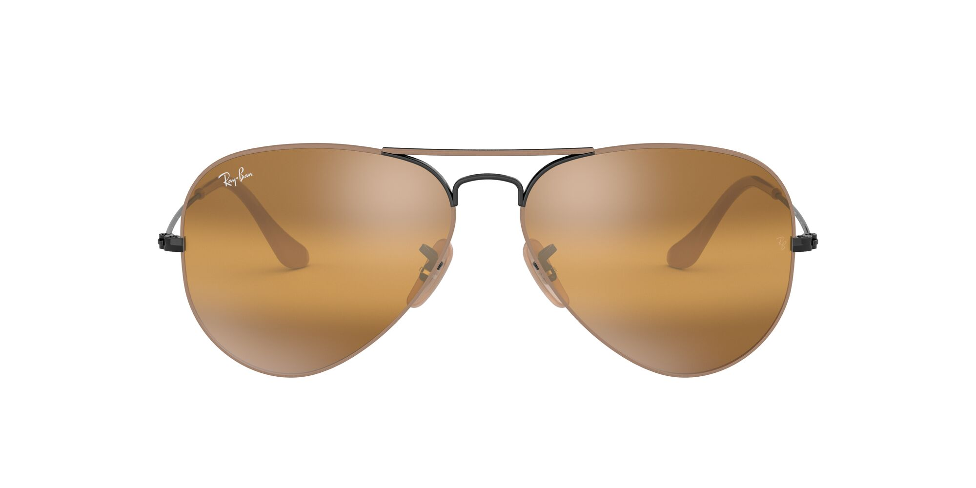 Front Ray-Ban Ray-Ban 0RB3025 9153AG 55/14 Zwart/Geel
