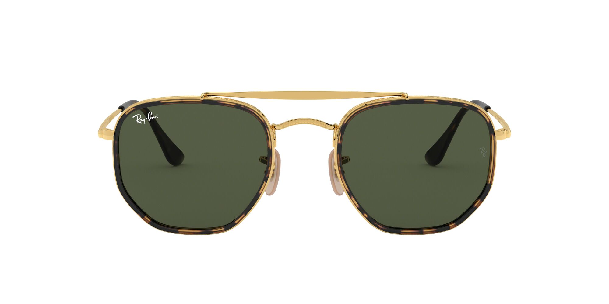 Front Ray-Ban Ray-Ban 0RB3648M 001 52/23 Gold, Bruin/Groen