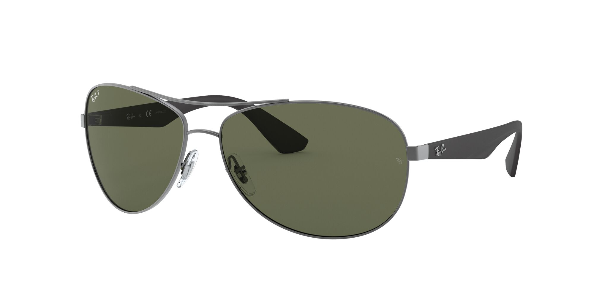 Angle_Left01 Ray-Ban Ray-Ban 3526 029/9A 63/14 Zilver/Groen