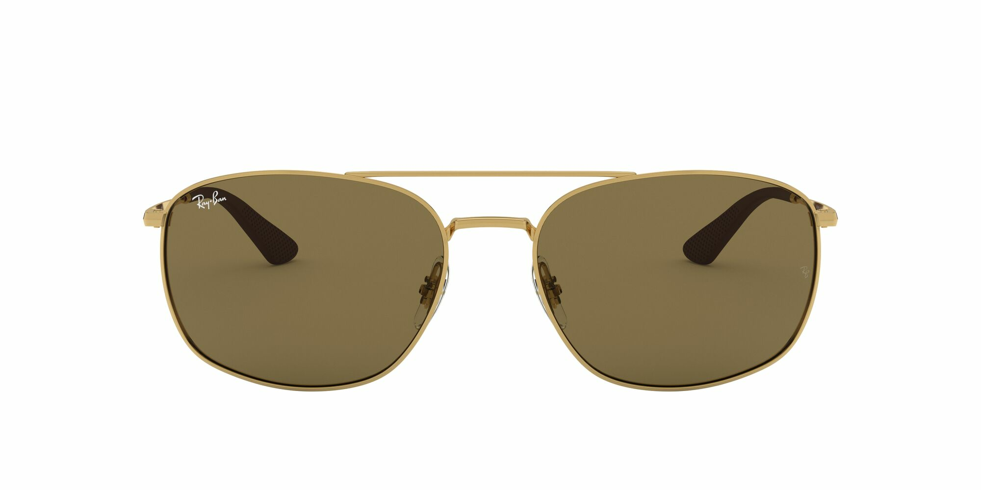 Front Ray-Ban Ray-Ban 0RB3654 001/73 60/18 Goud/Bruin