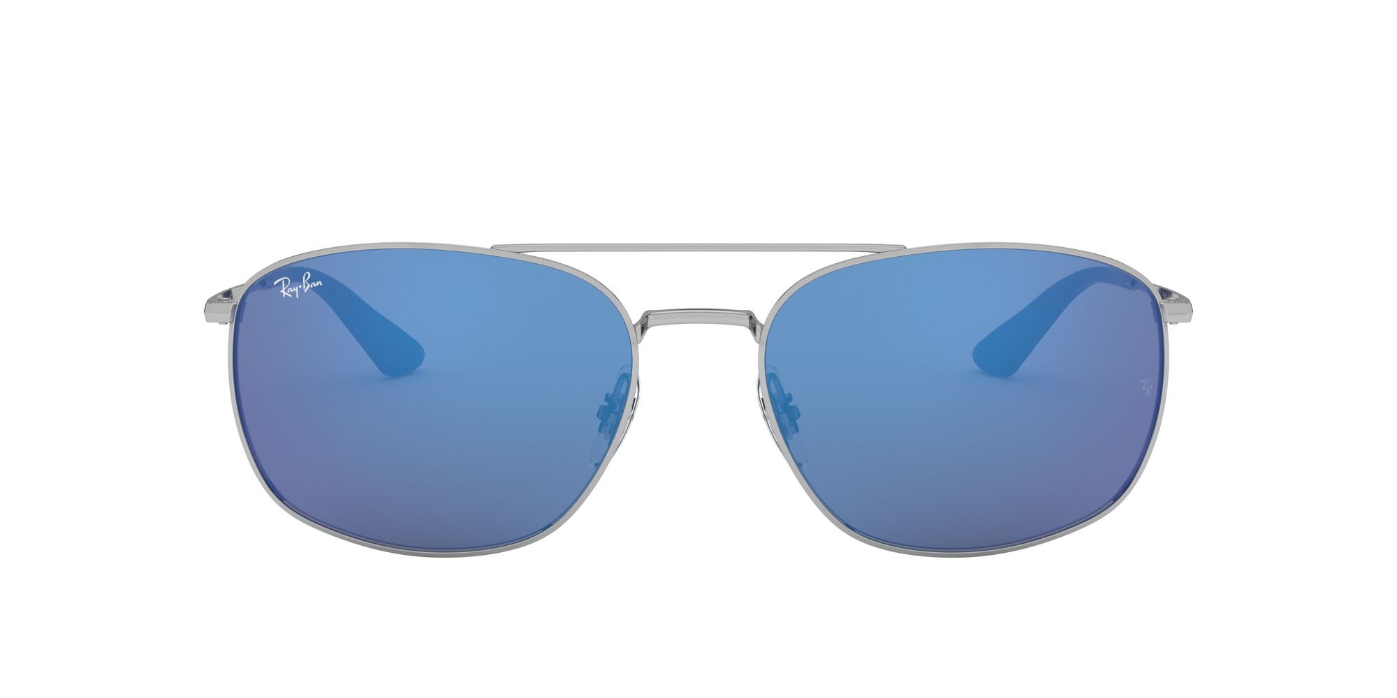 Front Ray-Ban Ray-Ban 0RB3654 003/55 60/18 Zilver/Blauw