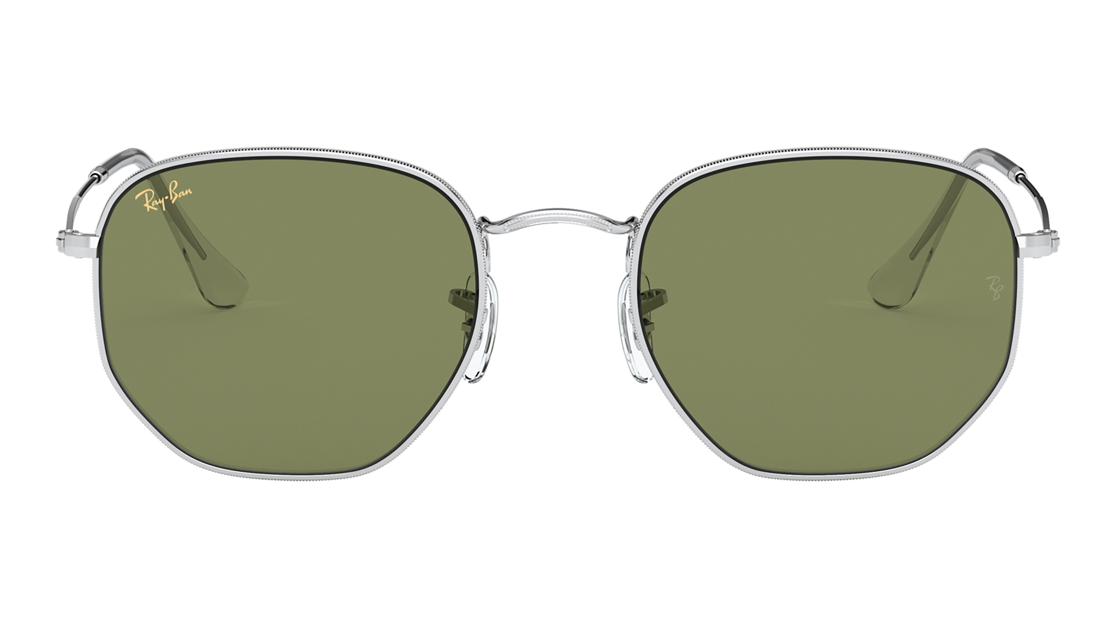 Front Ray-Ban Ray-Ban 0RB3548 91984E 54/21 Zilver/Groen