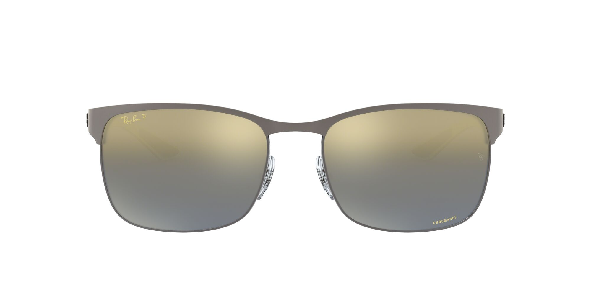 Front Ray-Ban Ray-Ban RB8319CH 9075J0 60/18 Zilver/Grijs