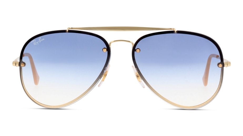Front Ray-Ban Ray-Ban 0RB3584N 001/19 58/13 Goud/Blauw