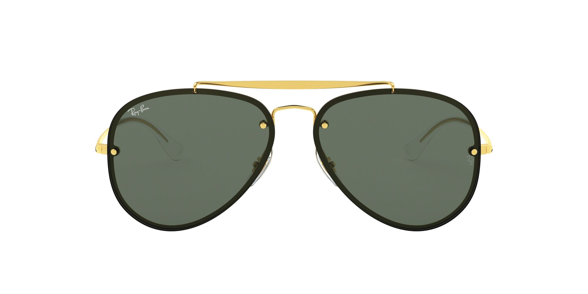 Front Ray-Ban Ray-Ban 0RB3584N 905071 58/13 Goud/Groen