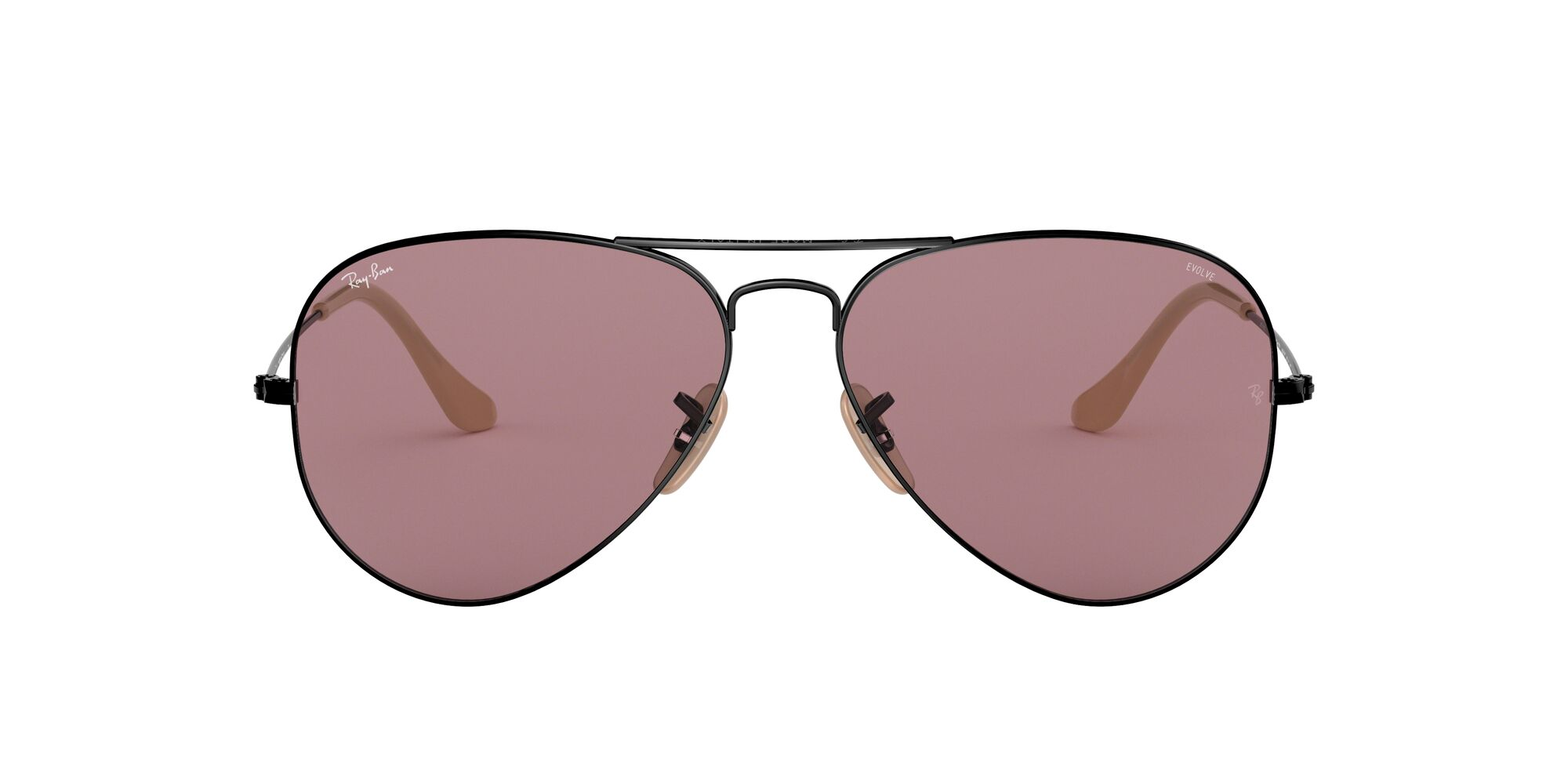 Front Ray-Ban Ray-Ban 0RB3025 9066Z0 55/14 Zwart/Paars