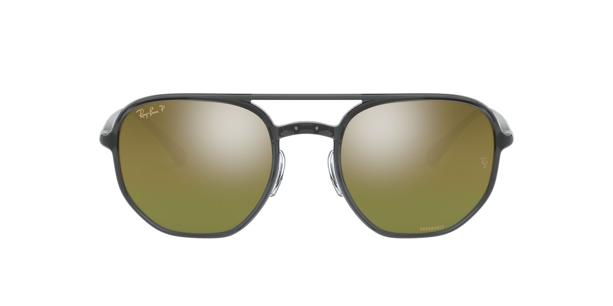Front Ray-Ban Ray-Ban 0RB4321CH 876/6O 52/21 Transparant, Grijs/Groen