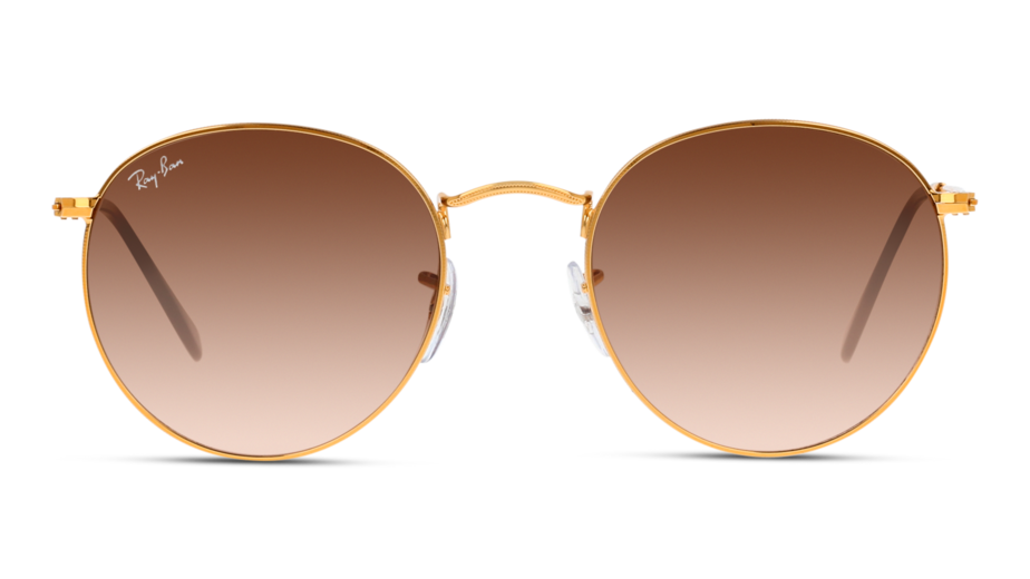 Front Ray-Ban Ray-Ban 0RB3447 9001A5 53/21 Goud/Bruin