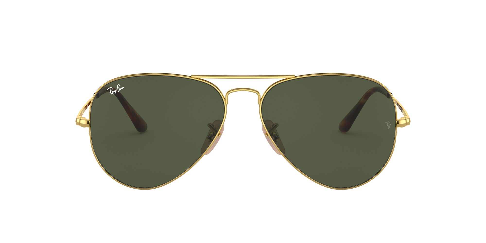 Front Ray-Ban Ray-Ban 0RB3689 914731 55/14 Goud/Groen