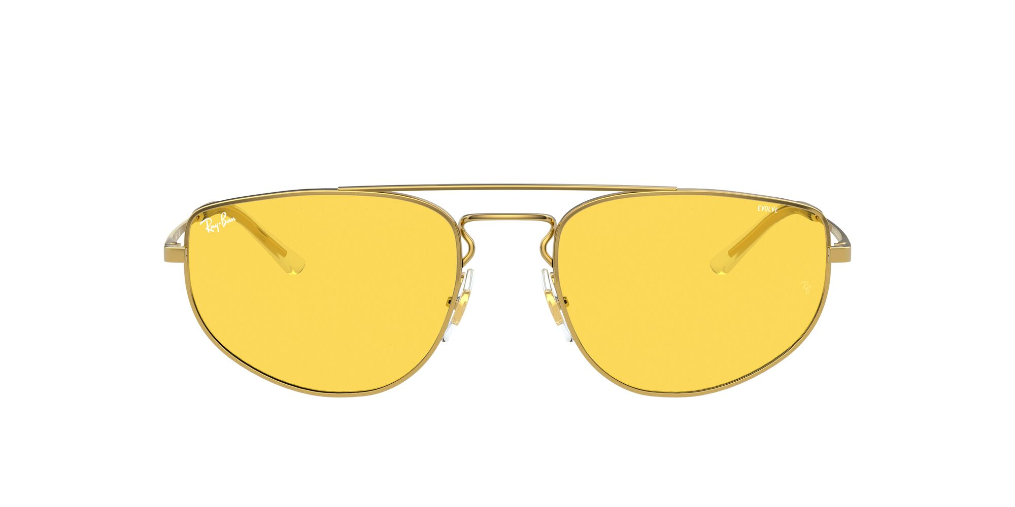 Front Ray-Ban Ray-Ban 0RB3668 001/Q1 55/19 Goud/Geel